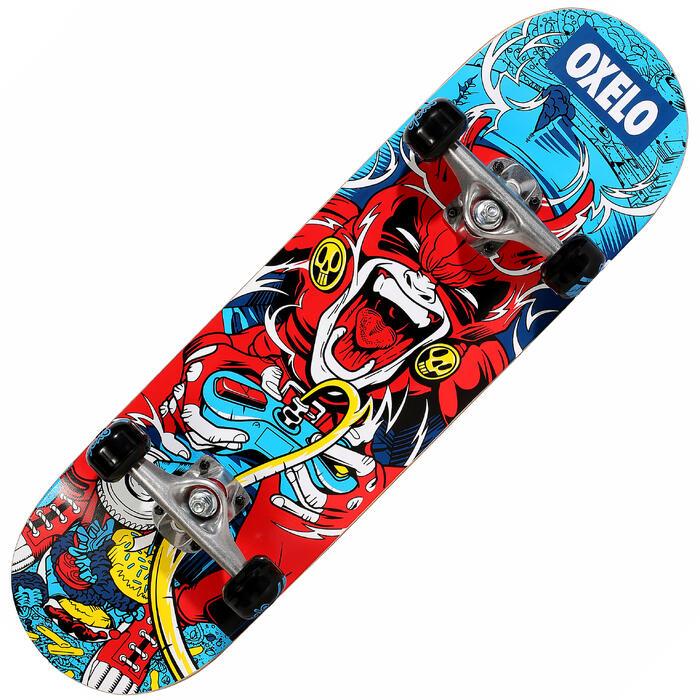 Skateboard enfant 5 à 7 ans MID100 GAMER rouge