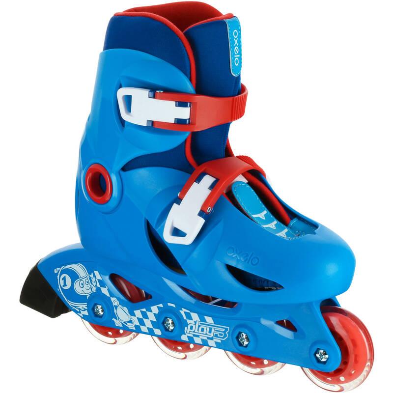Detské korčule Play3 modro-červené OXELO
