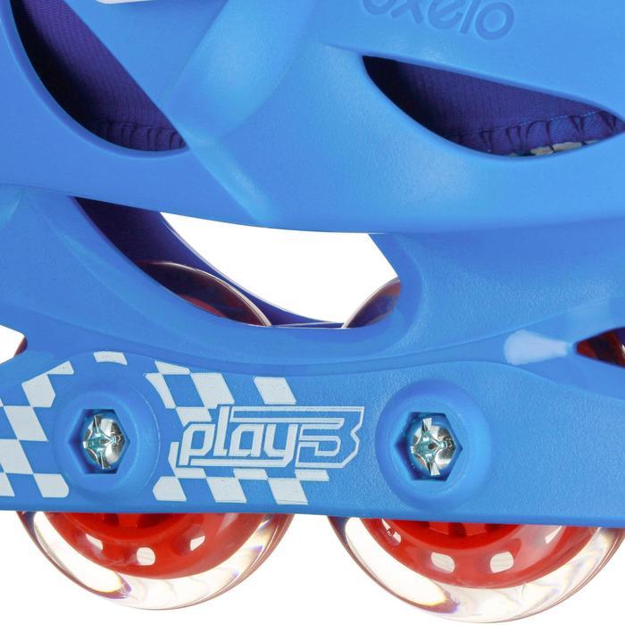 Patines en línea Fitness PLAY 3 Niños Azul Rojo