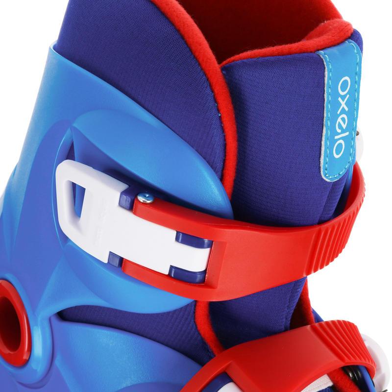 KIDS INLINE ROLLER SKATES PLAY 3 BLUE/RED