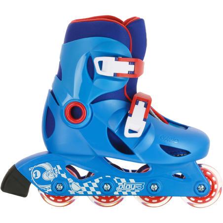 patins pour enfant JEU 3 bleu rouge