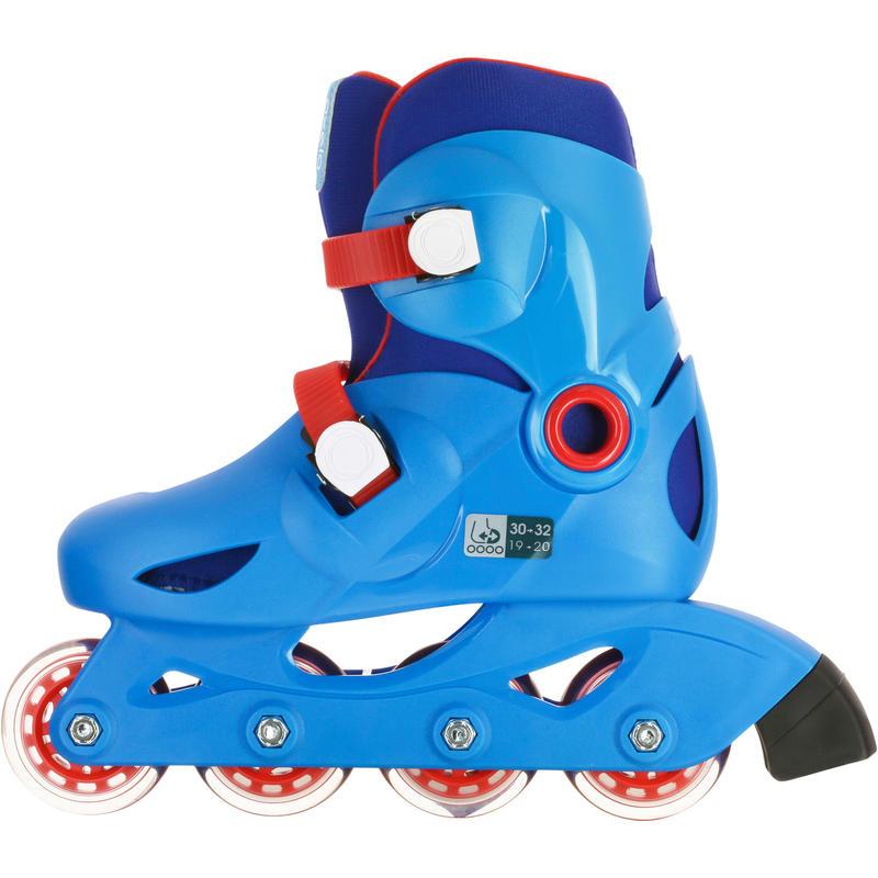 f38c24ec6b7 KIDS INLINE ROLLER SKATES PLAY 3 BLUE/RED