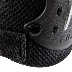 Set van 3 beschermers Fila voor volwassenen, voor skaten, skateboard zwart - 1029384