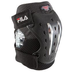 Set van 3 beschermers Fila voor volwassenen, voor skaten, skateboard zwart - 1029387