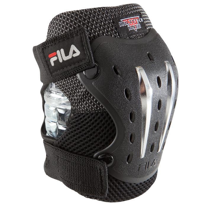 Set 3 protections roller skateboard trottinette adulte FILA noir