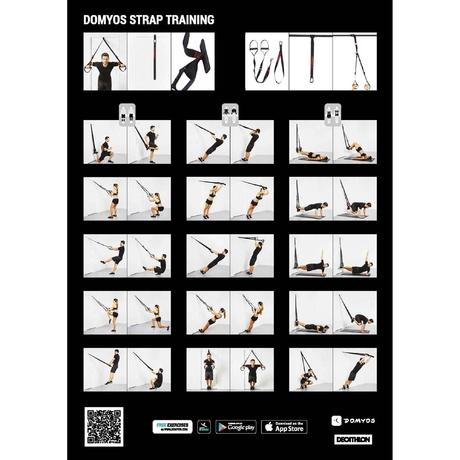 Training 100 Cross Training Suspension Strap | Domyos by ...