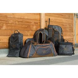 Bolsa de transporte con ruedas equitación TROLLEY 80 L gris y camel