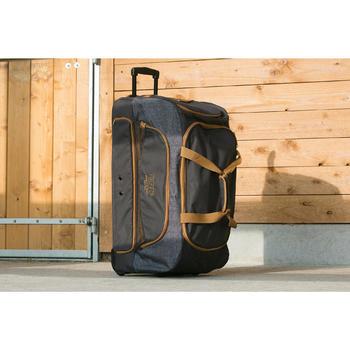 Transporttasche mit Rollen Trolley Sporttasche Reitzubehör 80L grau/camel