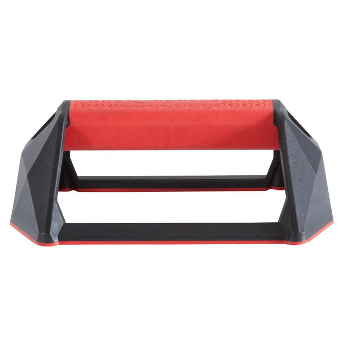 Agarraderas Flexiones Cross Training Domyos Push Up Bars Negro/Rojo