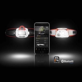 Lampe frontale connectée Reactik+ blanche et orange - 1030286