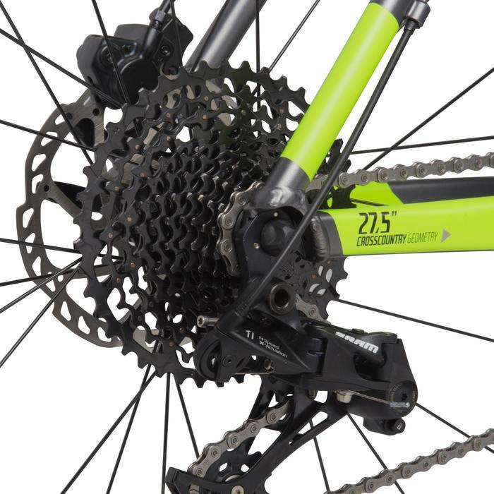 "Rockrider 900 27.5"" Mountain Bike - Grey/Neon Yellow - 1030339"