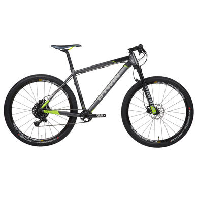 "Rockrider 900 27.5"" Mountain Bike - Grey/Lime"
