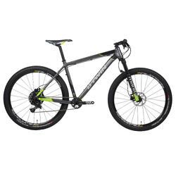 "Cross Country Mountainbike 27,5"" Rockrider 900 Alu hellgrau/neongelb"