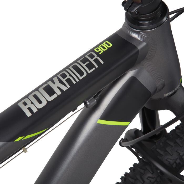 "Rockrider 900 27.5"" Mountain Bike - Grey/Neon Yellow - 1030348"
