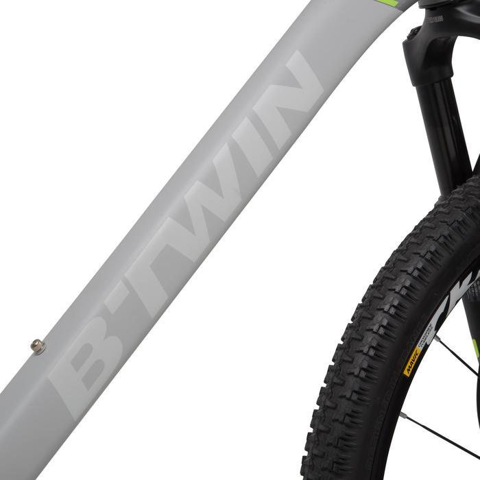 "Rockrider 920 27.5"" Mountain Bike - Grey/Lime - 1030363"