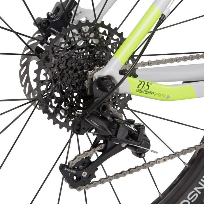 "Rockrider 920 27.5"" Mountain Bike - Grey/Lime - 1030365"