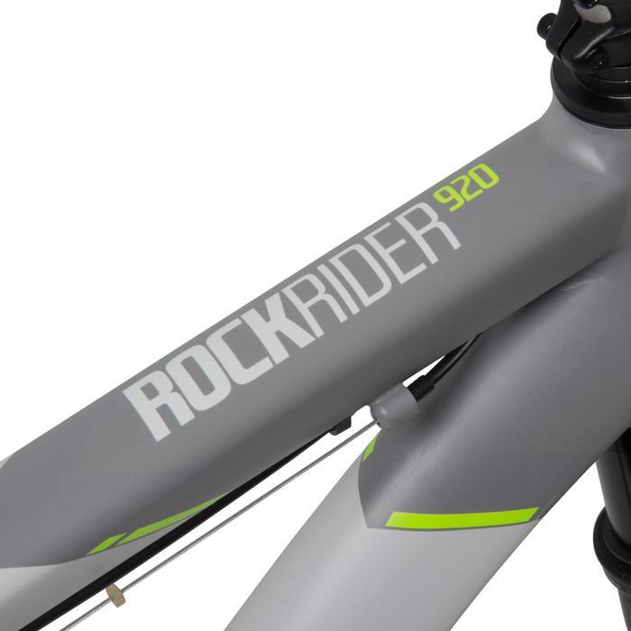 "Rockrider 920 27.5"" Mountain Bike - Grey/Lime - 1030368"