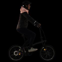 Warme fietsregenjas 900 dames reflecterend - 1030439
