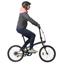 Warme fietsregenjas 900 dames reflecterend - 1030445