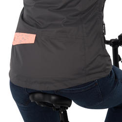 Warme fietsregenjas 900 dames reflecterend - 1030456