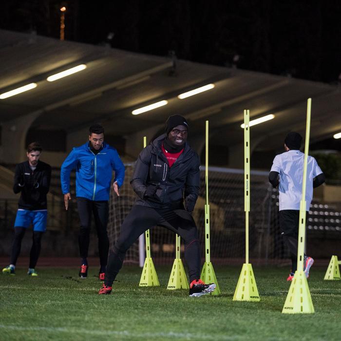 Chaqueta Impermeable Fútbol Kipsta FJK500 Adulto Negro