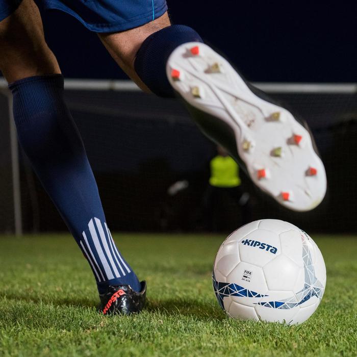 Medias largas de fútbol para adulto F500 azul marino