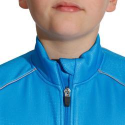 wielrenjack 500 voor kinderen zwart/blauw