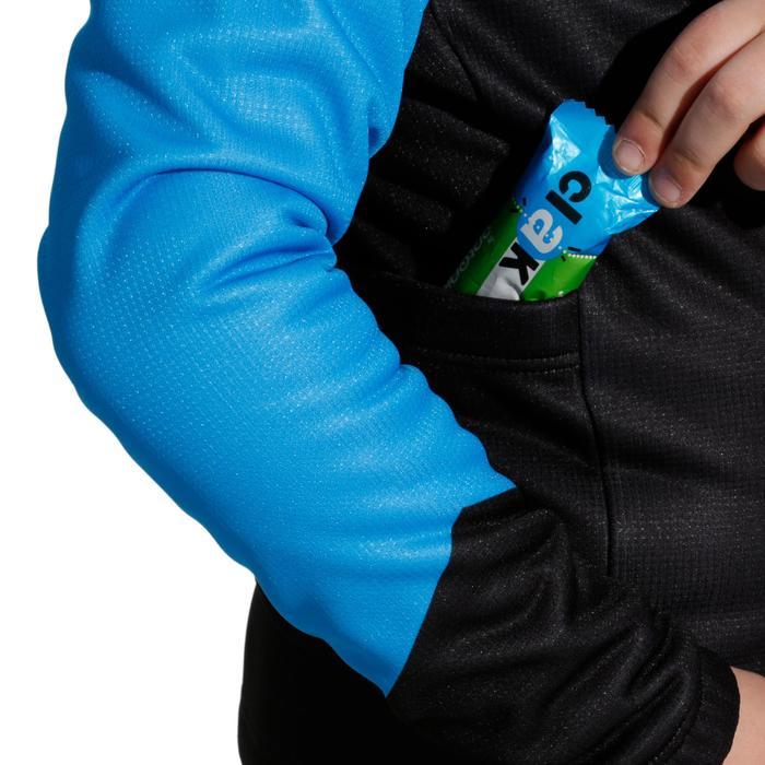Fietsjack 500 voor kinderen zwart/blauw