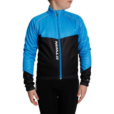 500 Children's Cycling Jacket - Black/Blue