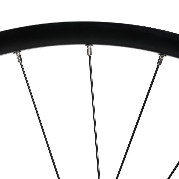 MTB achterwiel 27.5 dubbelwandige schijfrem met cassette zwart