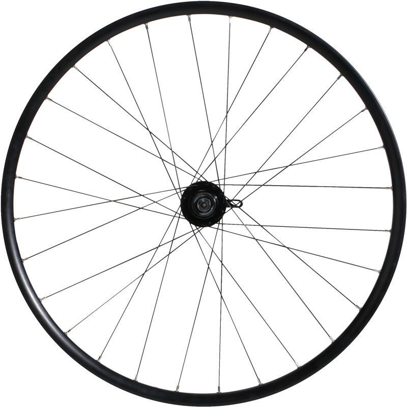 "Rueda Bicicleta MTB 27,5"" Trasera Freno Disco Cassette Doble Pared Negra"