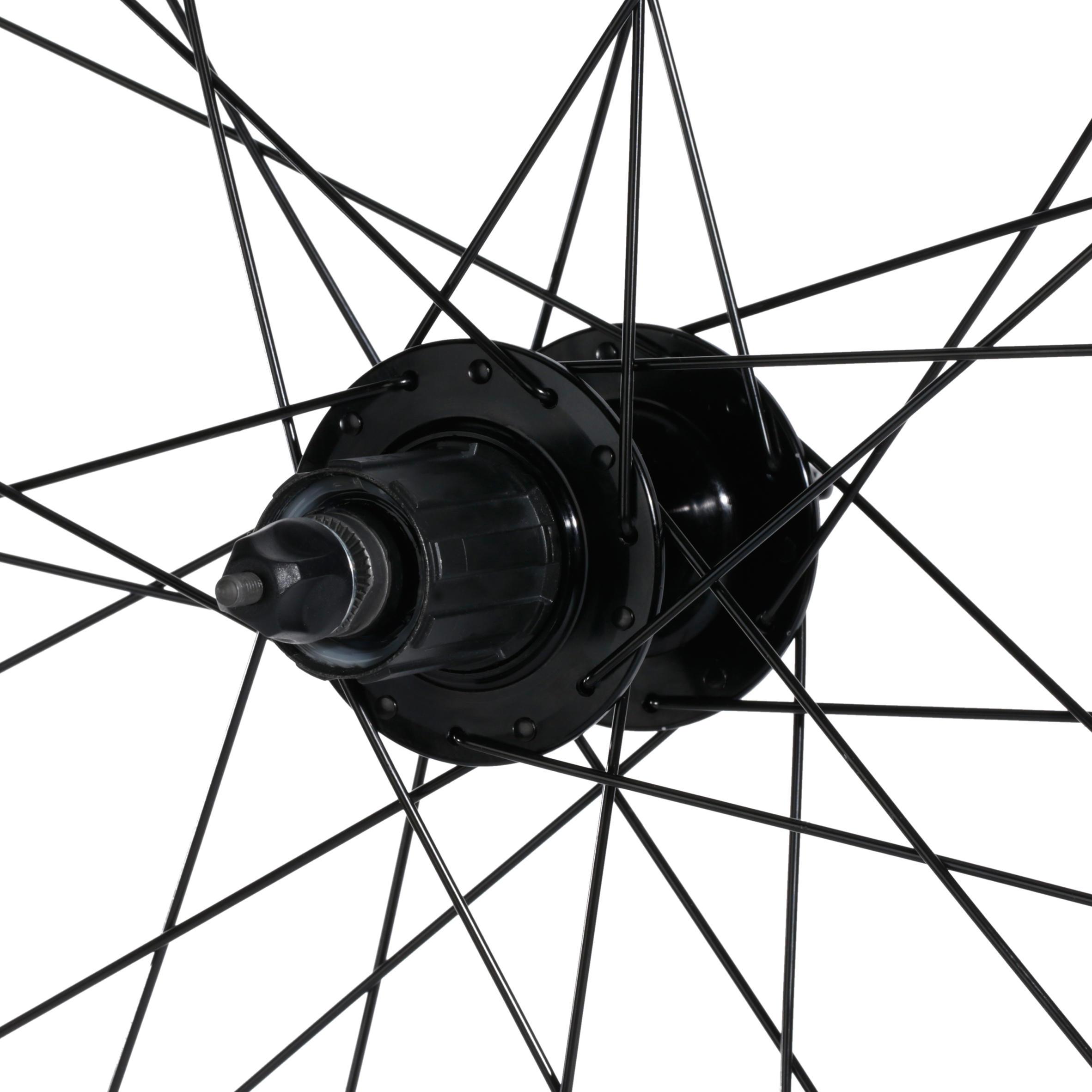 27.5_QUOTE_ Disc Brakes & Cassette Double-Wall Rim Mountain Bike Rear Wheel - Black