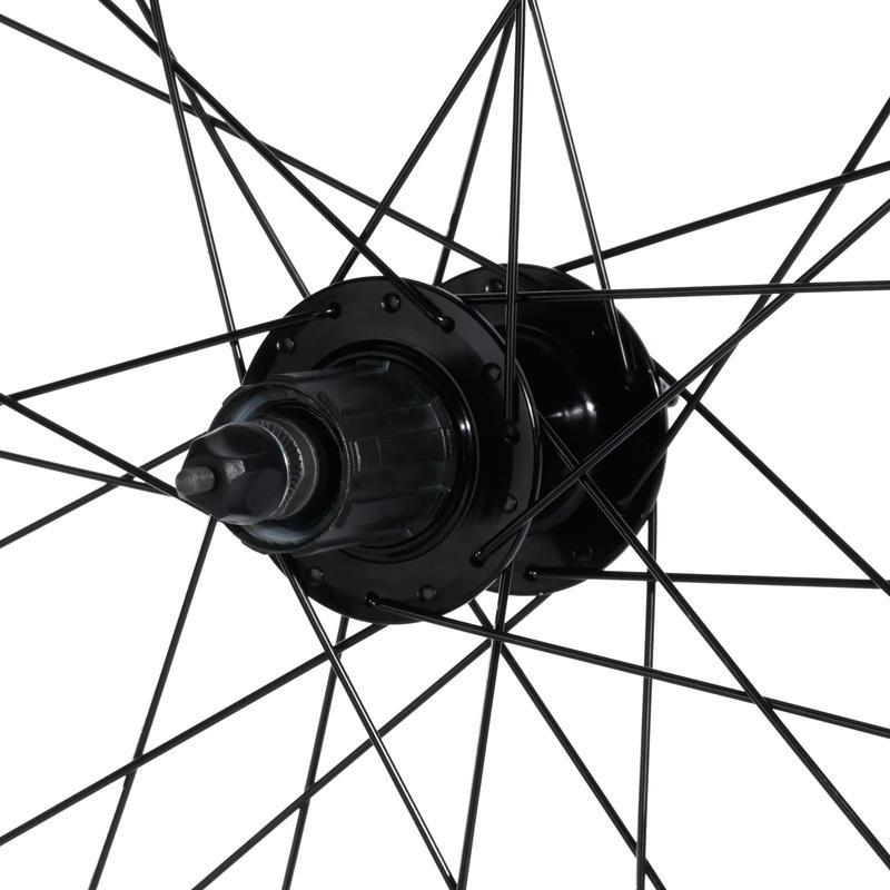 Mountain Bike Wheel 27.5_QUOTE_ Rear Double-Wall Rim Disc Brakes & Cassette - Black