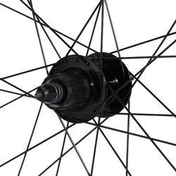 """Achterwiel voor MTB 27.5"""" schijf cassette dubbelwandig zwart"""