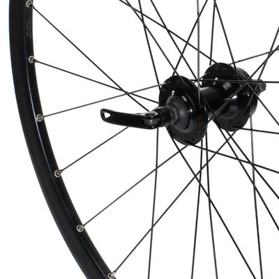 "Rueda Bicicleta MTB 27,5"" Delantera Freno Disco Doble Pared Negra"