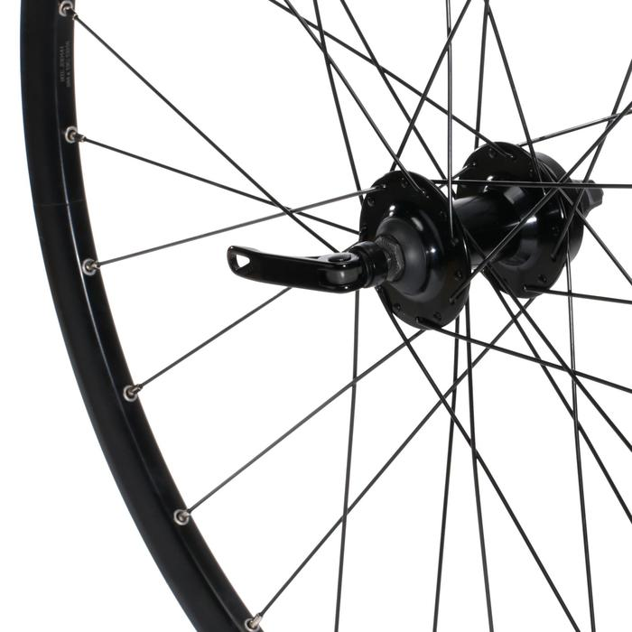 "RUEDA BTT DELANTERA 27,5""x23c DOBLE PARED DISCO NEGRO"