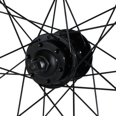 "Mountain Bike Wheel 27.5"" Front Double-Walled Rim Disc - Black"