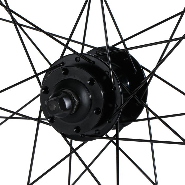 """MTB voorwiel 27.5"""" dubbelwandige schijfrem zwart"""