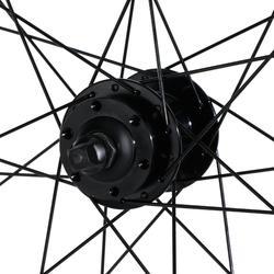 """Voorwiel voor MTB 27.5"""" dubbelwandig schijfrem zwart"""