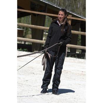 Sur pantalon imperméable équitation 500 2en1 noir - 103098
