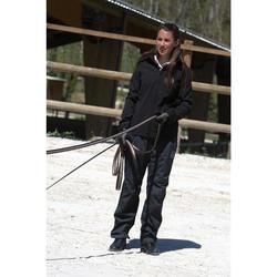 Waterdichte overbroek 500 ruitersport volwassenen 2 in 1 zwart