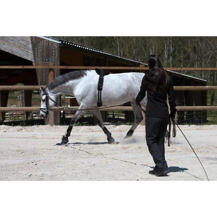 Sur pantalon imperméable équitation 500 2en1 noir - 103099
