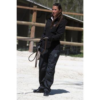 Sur pantalon imperméable équitation 500 2en1 noir - 103100