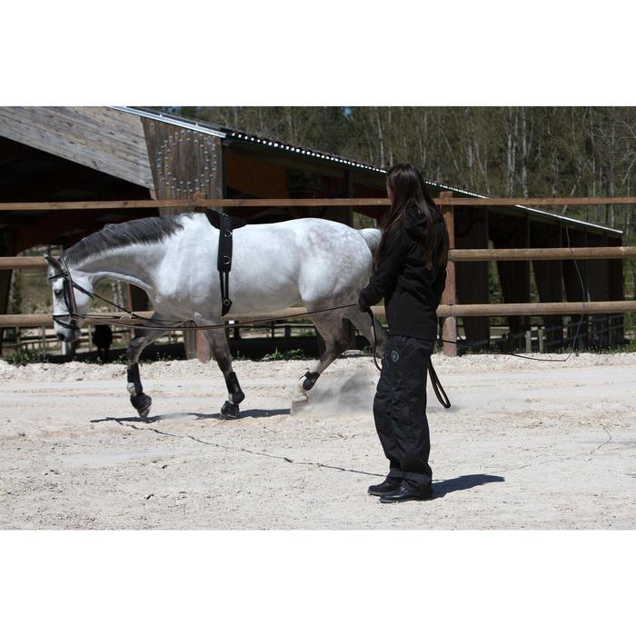 Sur pantalon imperméable équitation 500 2en1 noir - 103101