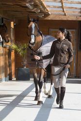 Staldeken Stable 200 ruitersport bordeaux - paard - 1031095
