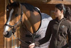 Staldeken Stable 200 ruitersport bordeaux - paard - 1031097