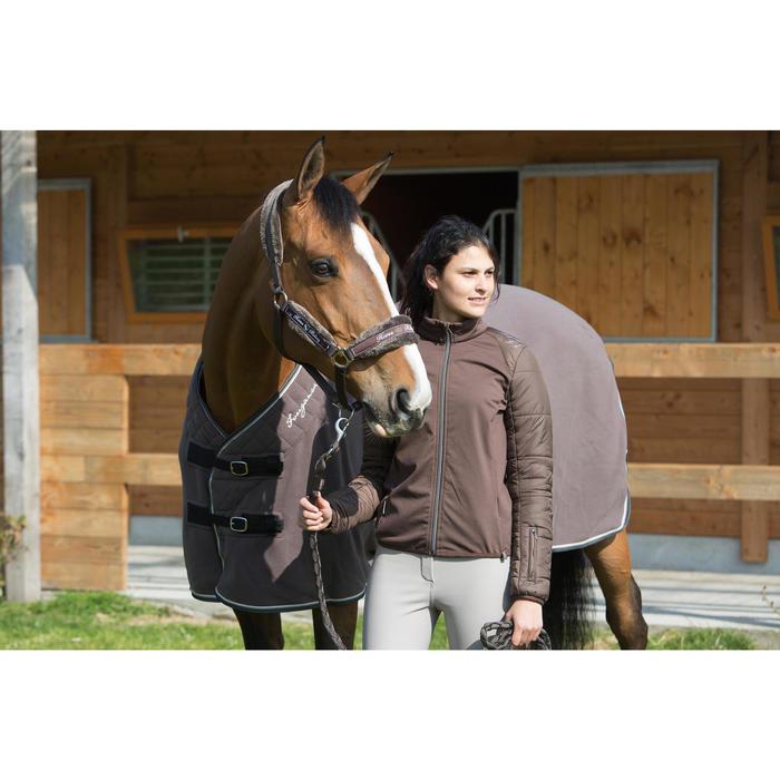 Staldeken ruitersport Polar 500 bruin voor pony's en paarden