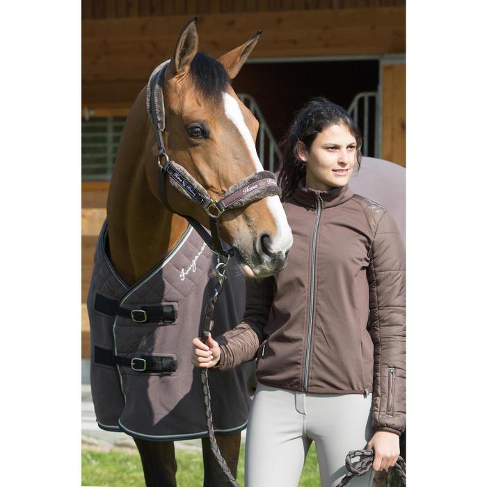Chemise d'écurie équitation POLAR 500 marron -  poney et cheval - 1031103