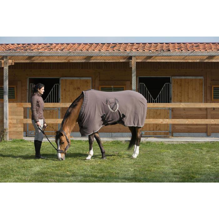 Chemise d'écurie équitation POLAR 500 marron -  poney et cheval - 1031104