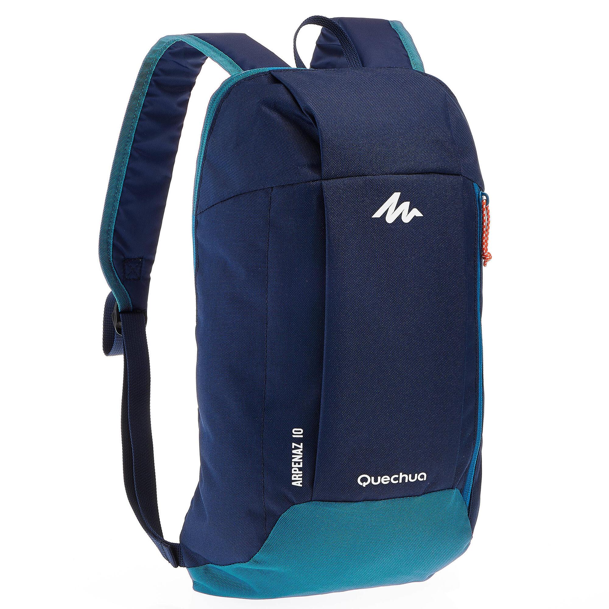 sac dos de randonn e pour la journ e arpenaz 10 l bleu quechua. Black Bedroom Furniture Sets. Home Design Ideas